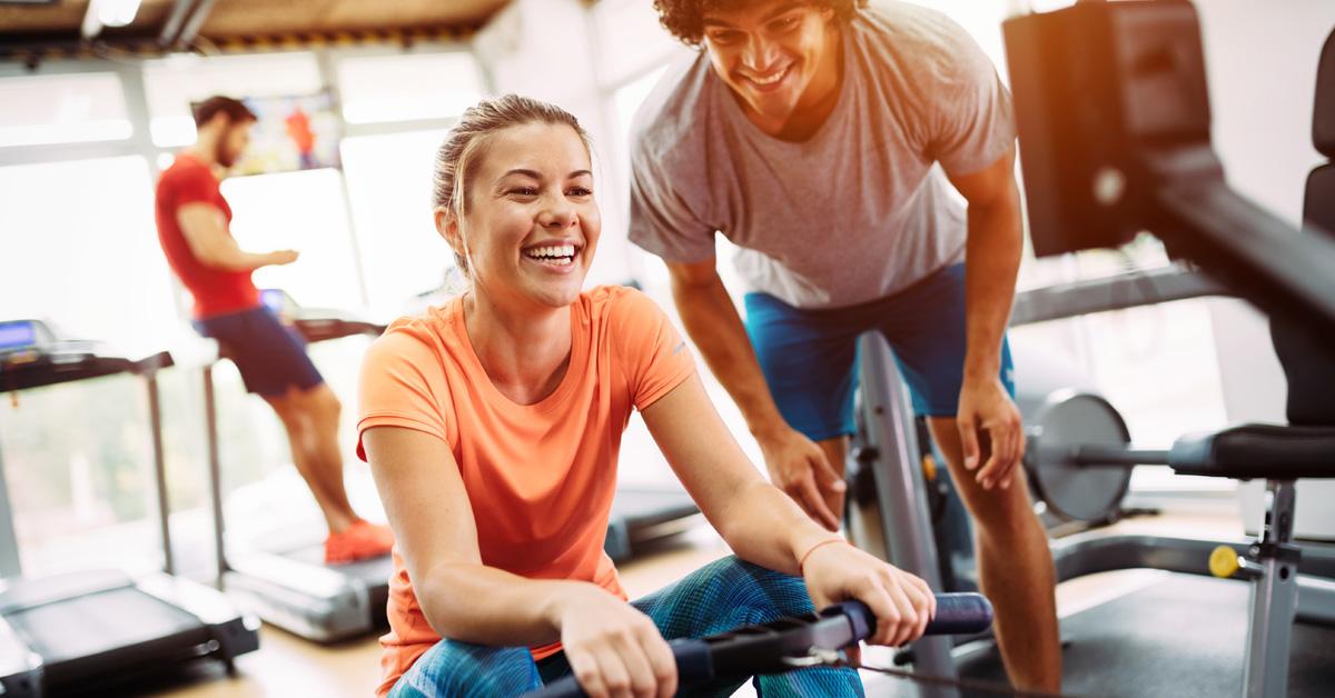 Biokineticist Training in a Gym